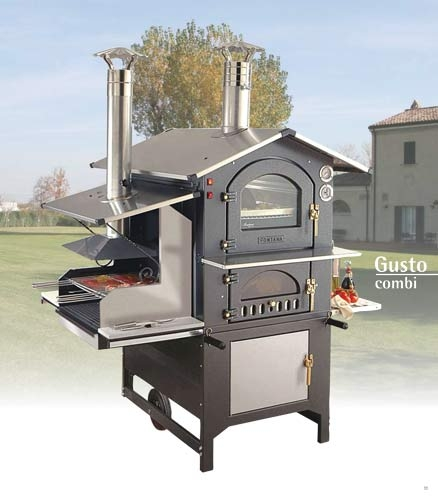 holzbackofen grill kombi gusto 100 pizzaofen. Black Bedroom Furniture Sets. Home Design Ideas
